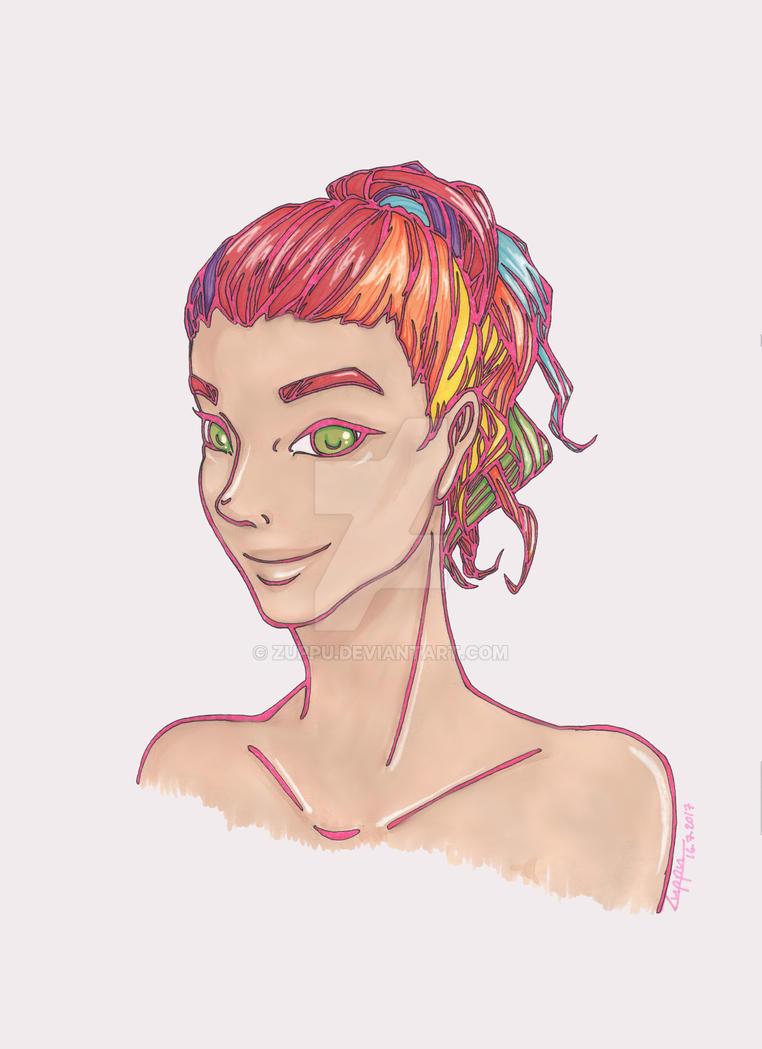 Rainbowhair by Zuppu