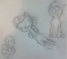 Sibsy Style Session #3 Pinkie, Flylight, Scootaloo by MrCazum