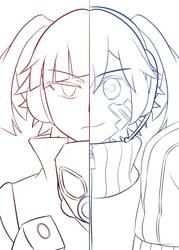 Takane and Ene -RedBlue- by enyllo