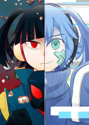 Takane and Ene -colored- by enyllo