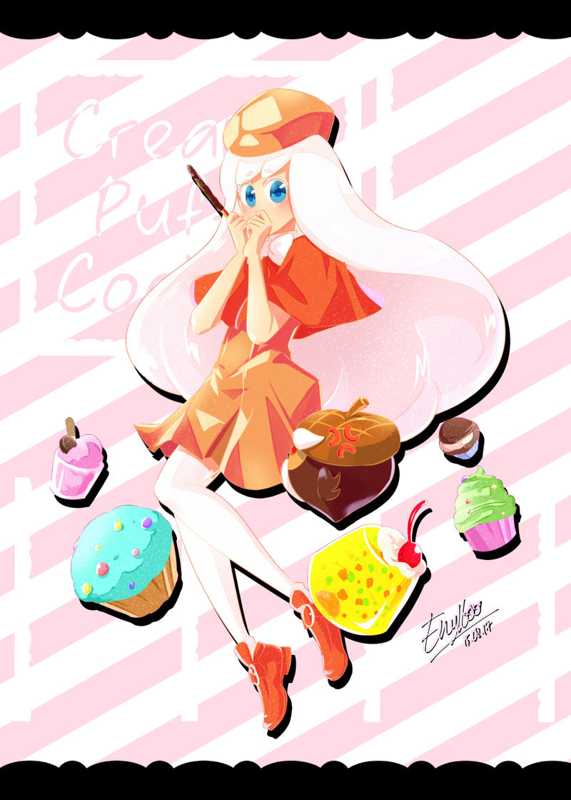 Cream Puff Cookie by enyllo