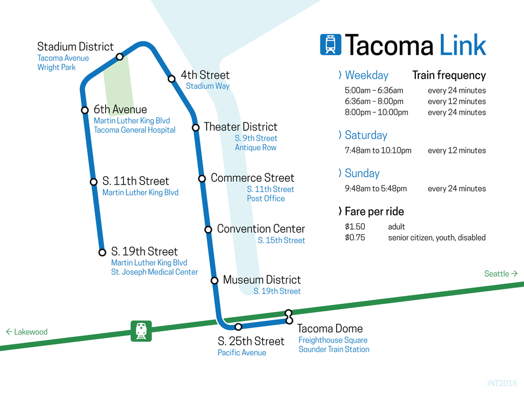 Proposed Tacoma Link line map by schreibstang on DeviantArt