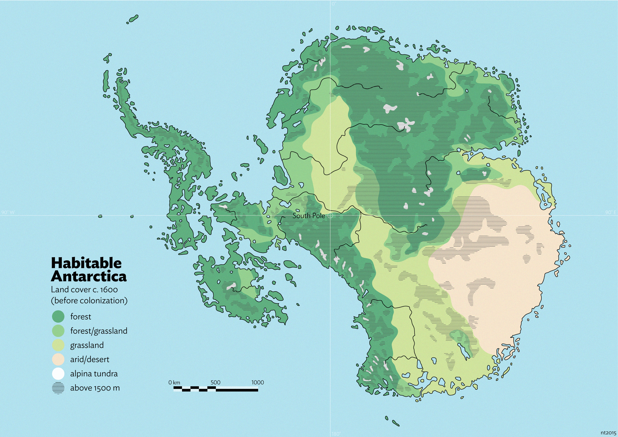 Habitable Antarctica: Pre-colonization land cover by schreibstang