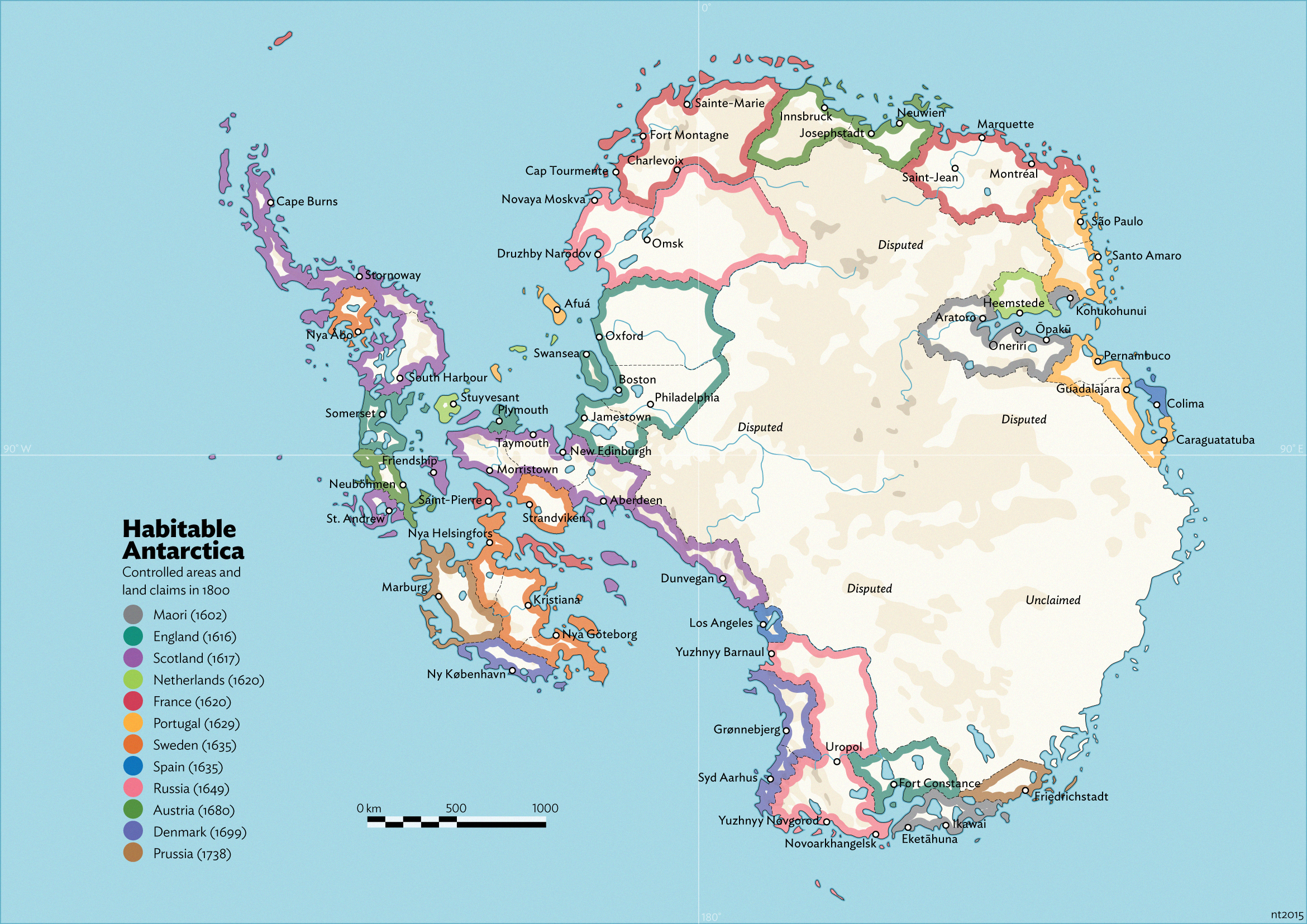 Habitable Antarctica Land Claims By By Schreibstang On - Antarctica cities map