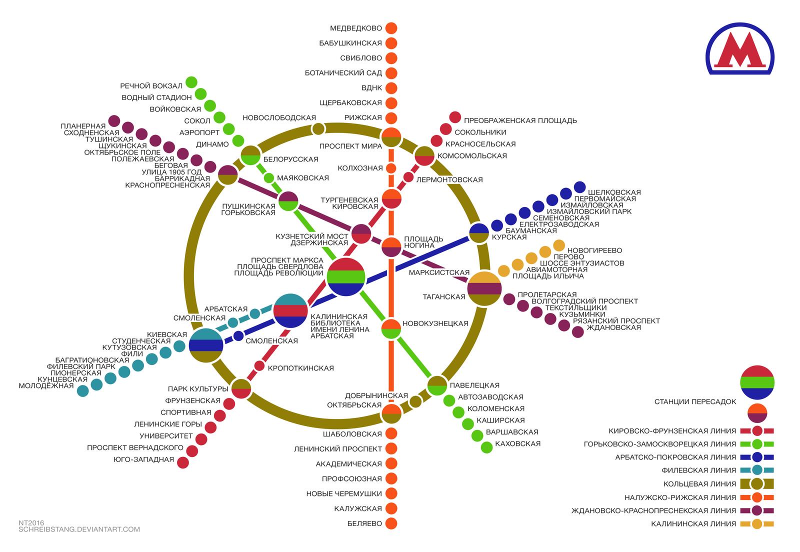 Moscow Metro Map  Diagram  Digitally Re