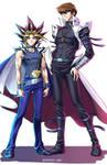Yami And Kaiba (Colored)