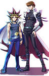 Yami And Kaiba (Colored)