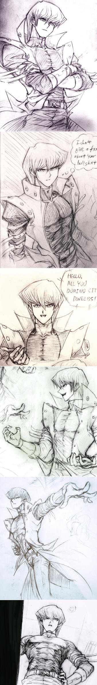 Sketch Collection of Seto Kaiba :) by Ycajal