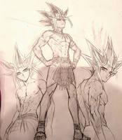 Pharaoh Atem Sketches