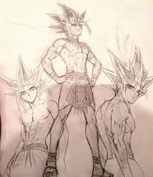 Pharaoh Atem Sketches by Ycajal