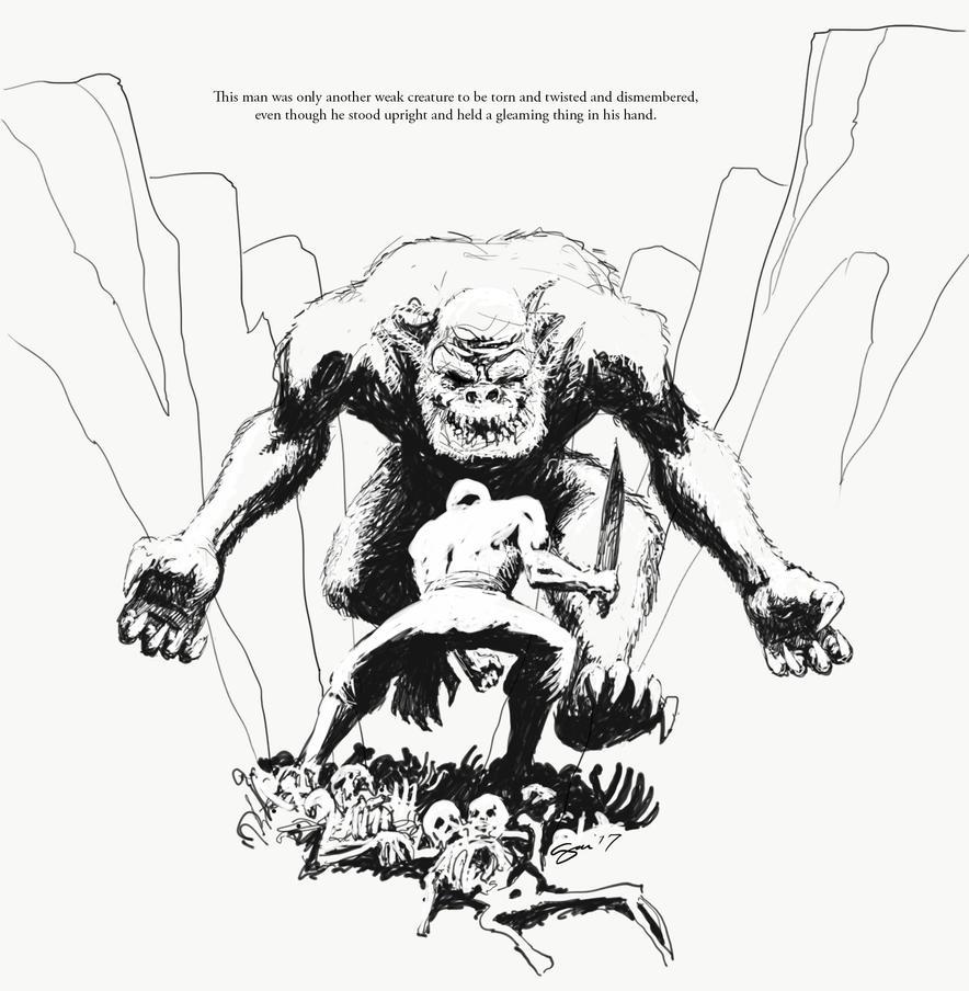 Three Bladed Doom - Ape by SamInabinet