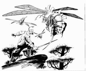 Sabre-tail Wasp by SamInabinet