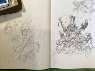 sketchbook page (WarpStone work) by SamInabinet