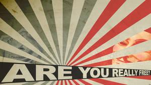 V for Vendetta (Anonymous) Propaganda poster