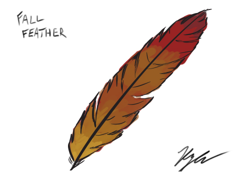 Fall Feather by ampix0