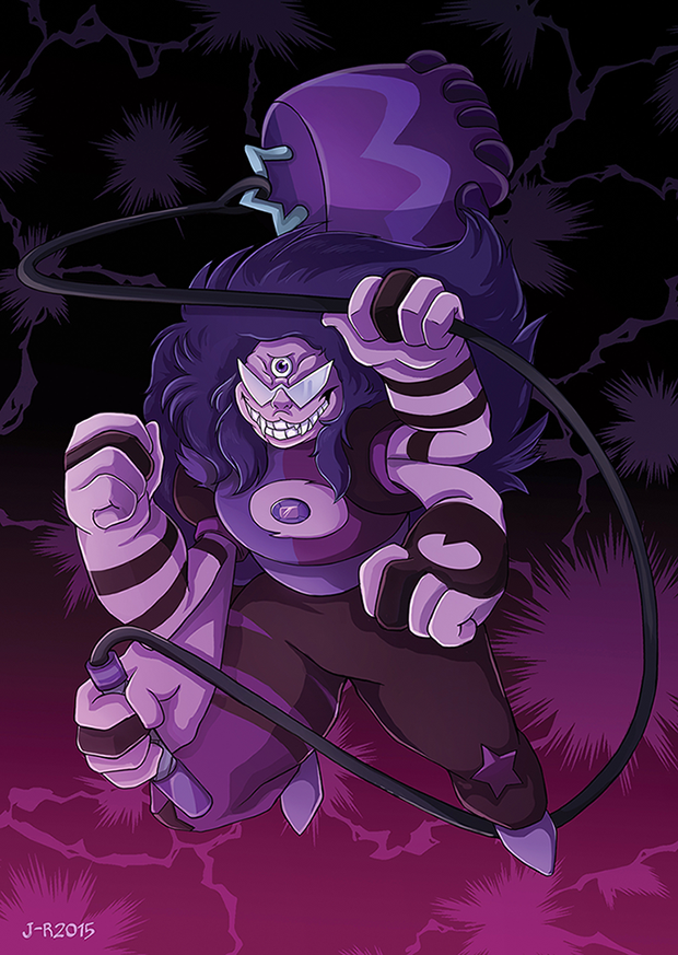 Phew, between work and other hassle, I managed to squeeze one Sugilite out of my system for upcoming Tracon X 83 With this done, I think I want to draw all the other gemfusions too On tumblr: loiht...