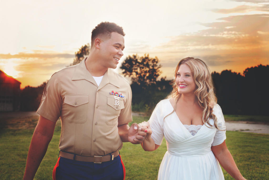 Vintage Military Couple by waiting4cadence