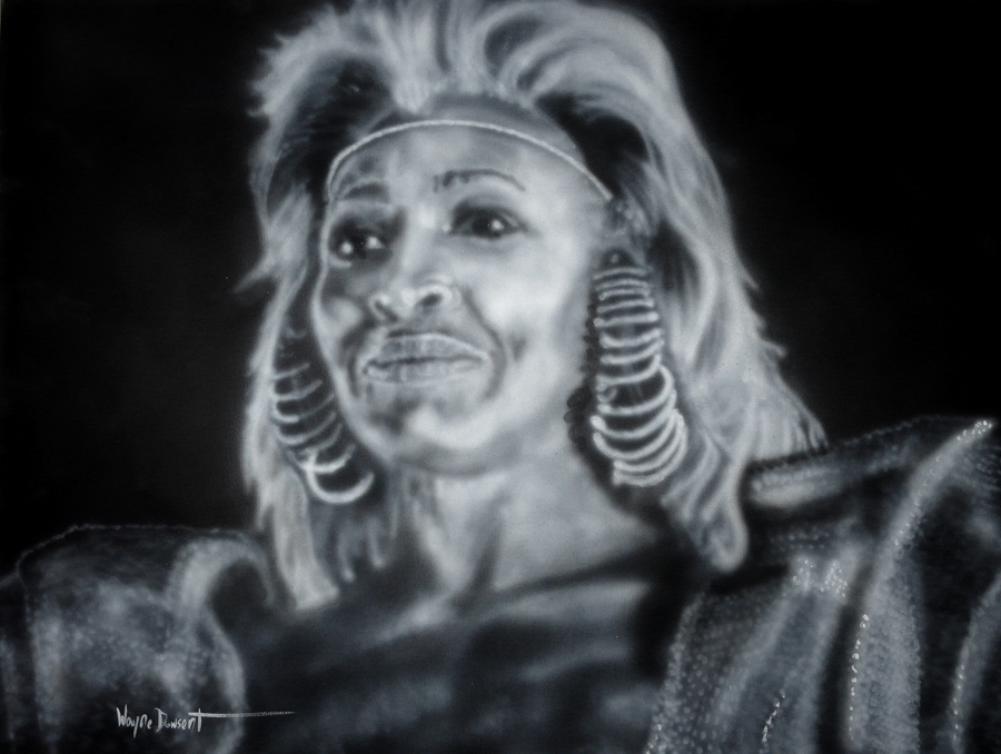 TINA TURNER by waynedowsent