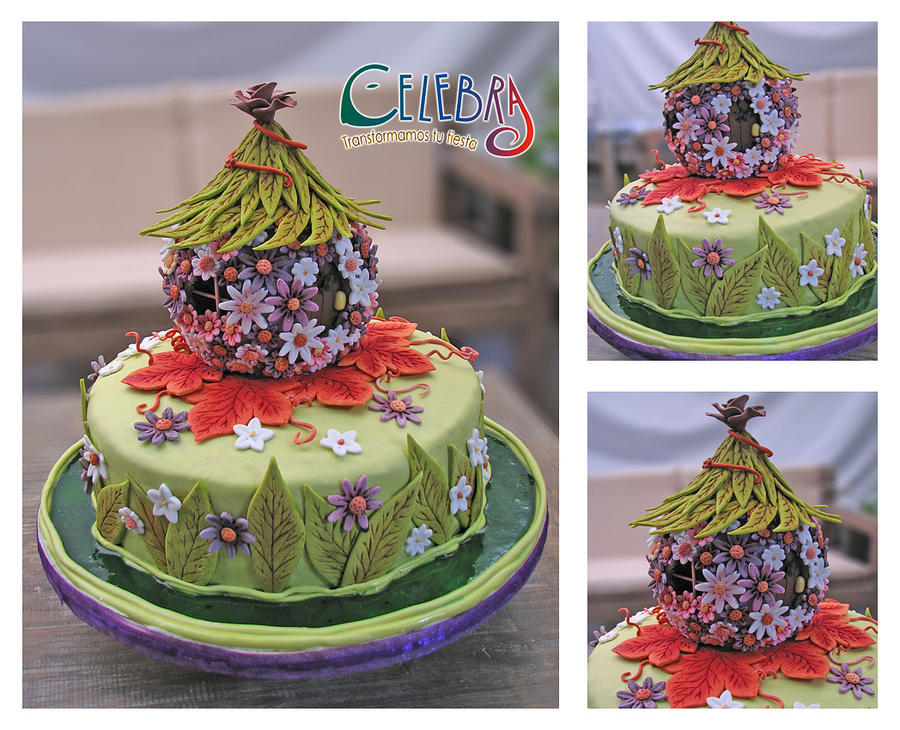 Tinkerbell fairy Home Cake by The-Nonexistent on DeviantArt