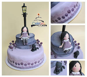 Gorjuss in Lilac Cake