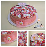 Peach Flowers Cake by The-Nonexistent