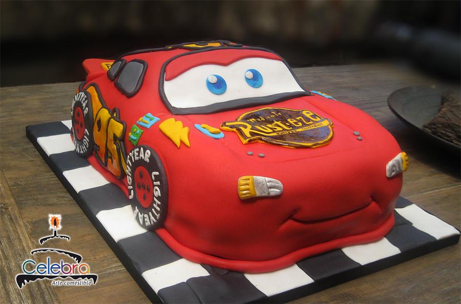 Mcqueen Car Cake Decoration
