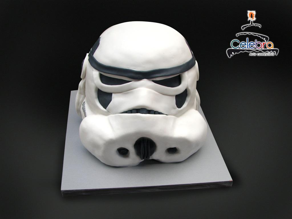 Storm Trooper Cake Face Image