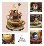 Steampunk Machinarium Cake