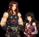 Commission for Suyuku-san: Lance and Isha