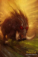 Boar by Hamsterfly