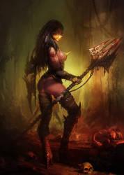 Female Gladiator by Hamsterfly