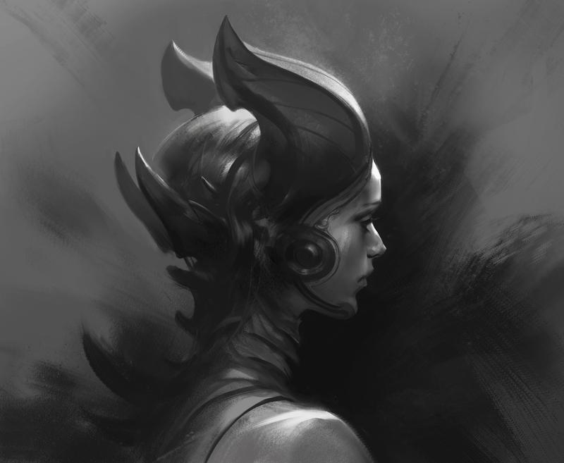 Demon Girl portrait