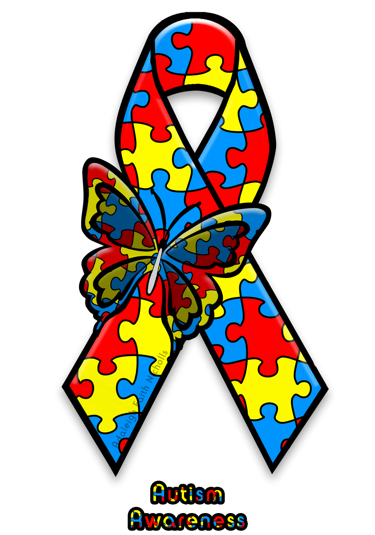Autism Awareness Ribbon By Adaleighfaith On Deviantart
