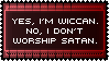 I Don't Worship Satan Wiccan Stamp by AdaleighFaith