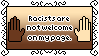 Racists Are Not Welcome Stamp by AdaleighFaith