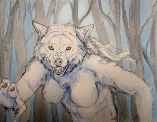 Werwolf bei Nacht by Runenwinter