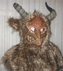 fluffy with horns by Runenwinter