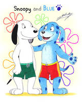 Snoopy and Blue! by SAGADreams