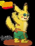 Summer Pikachu! (PNG)