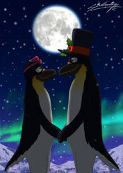Penguins in love! (Happy New Year) by SAGADreams