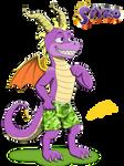 Spyro the dragon (anthro version)