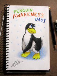 Penguin Awareness Day! by SAGADreams