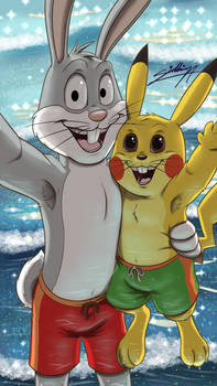 Bunnies Bros' summer selfie!