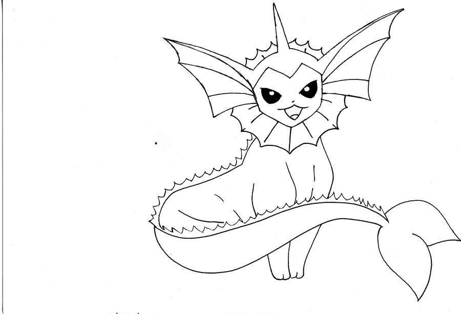 Pokemon Vaporeon Coloring Pages Coloring Pages