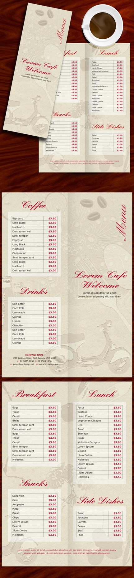 menu by egdesign01