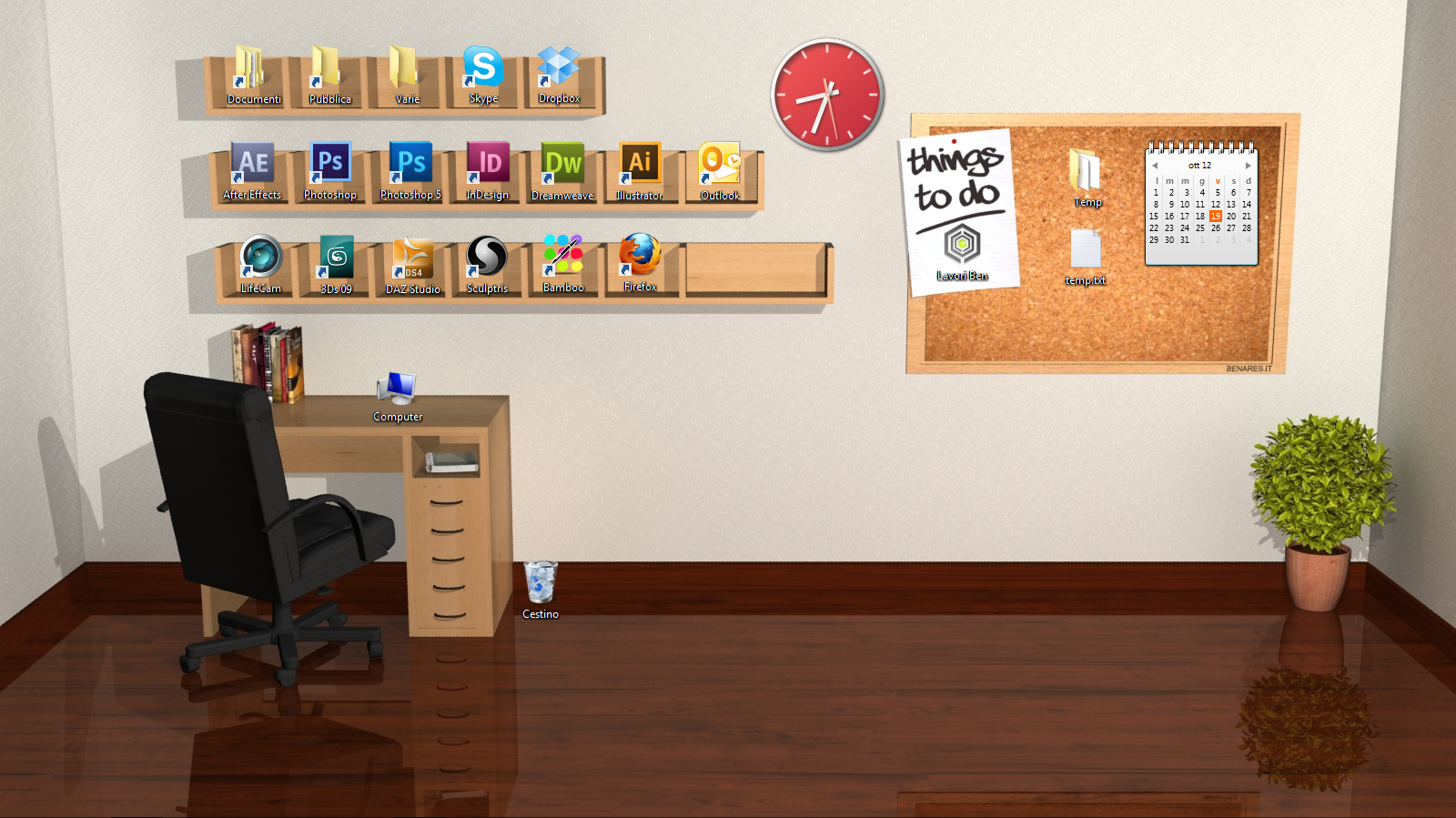 3D Desktop Room by Benares78 on DeviantArt