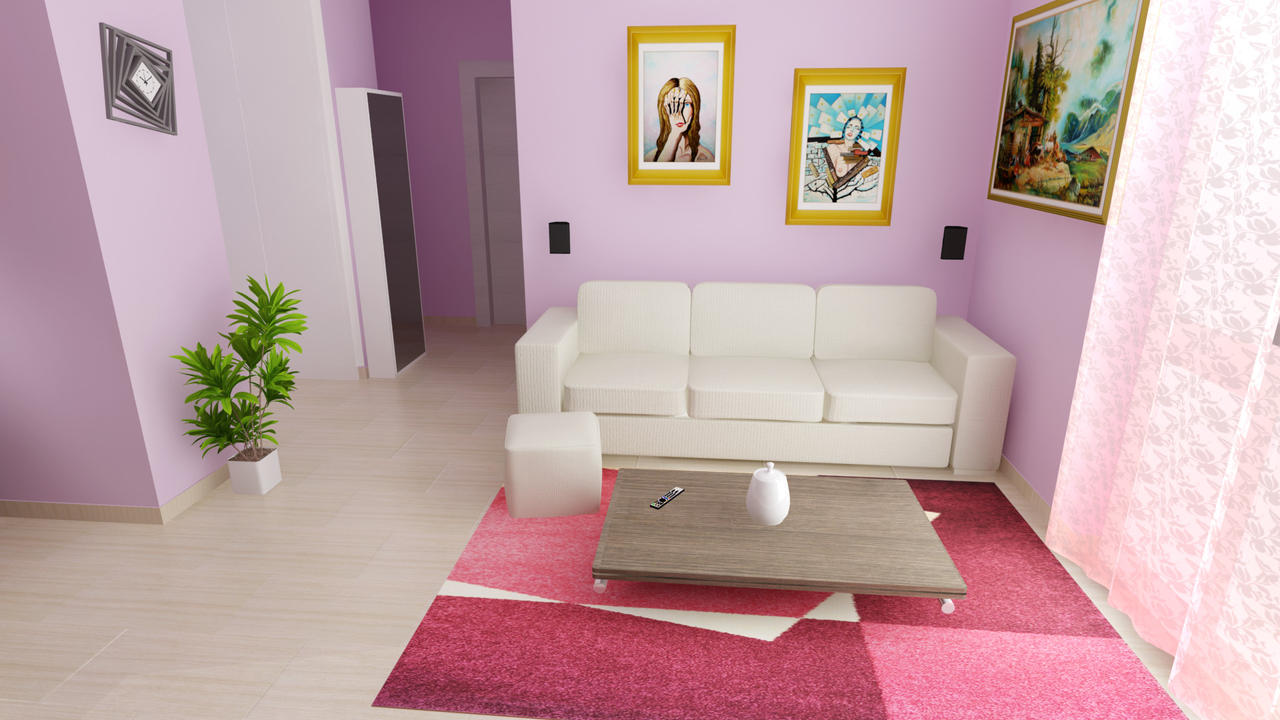 Living room 06 3ds max vray render by benares78 on for Living room 3ds max