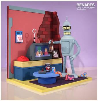 Futurama Bender Diorama by Benares78