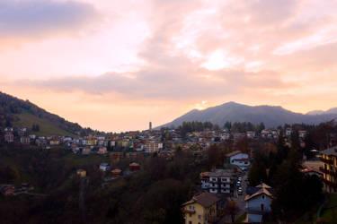 Sunset in Selvino