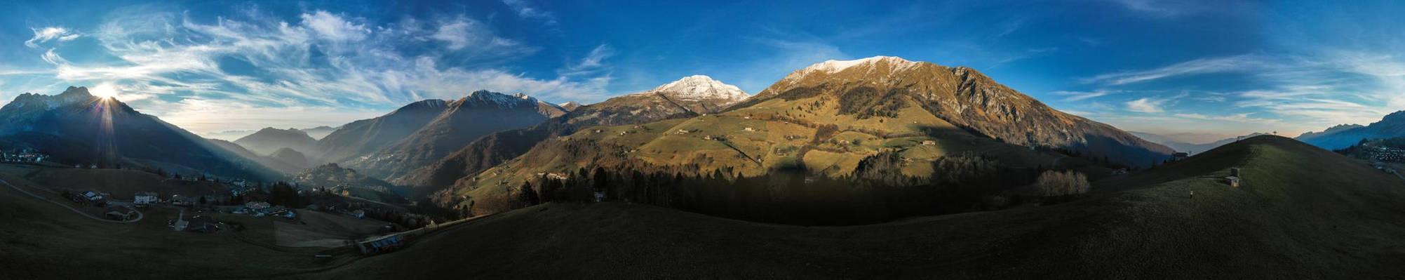 Panorama di Zambla Alta